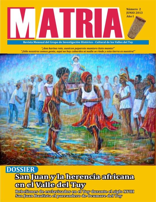 Portada  de la Revista Matria Nº 2